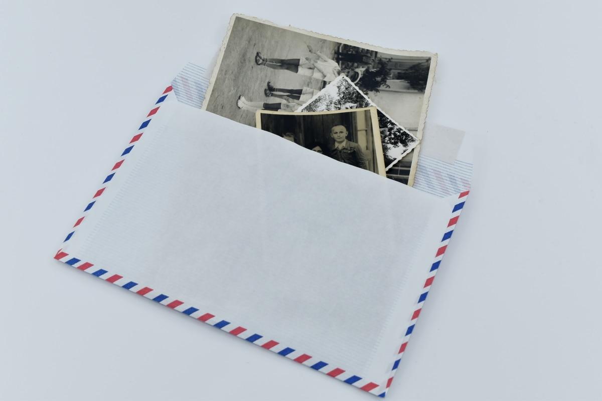 envelope, image, letter, message, photography, vintage, paper, post, still life, retro