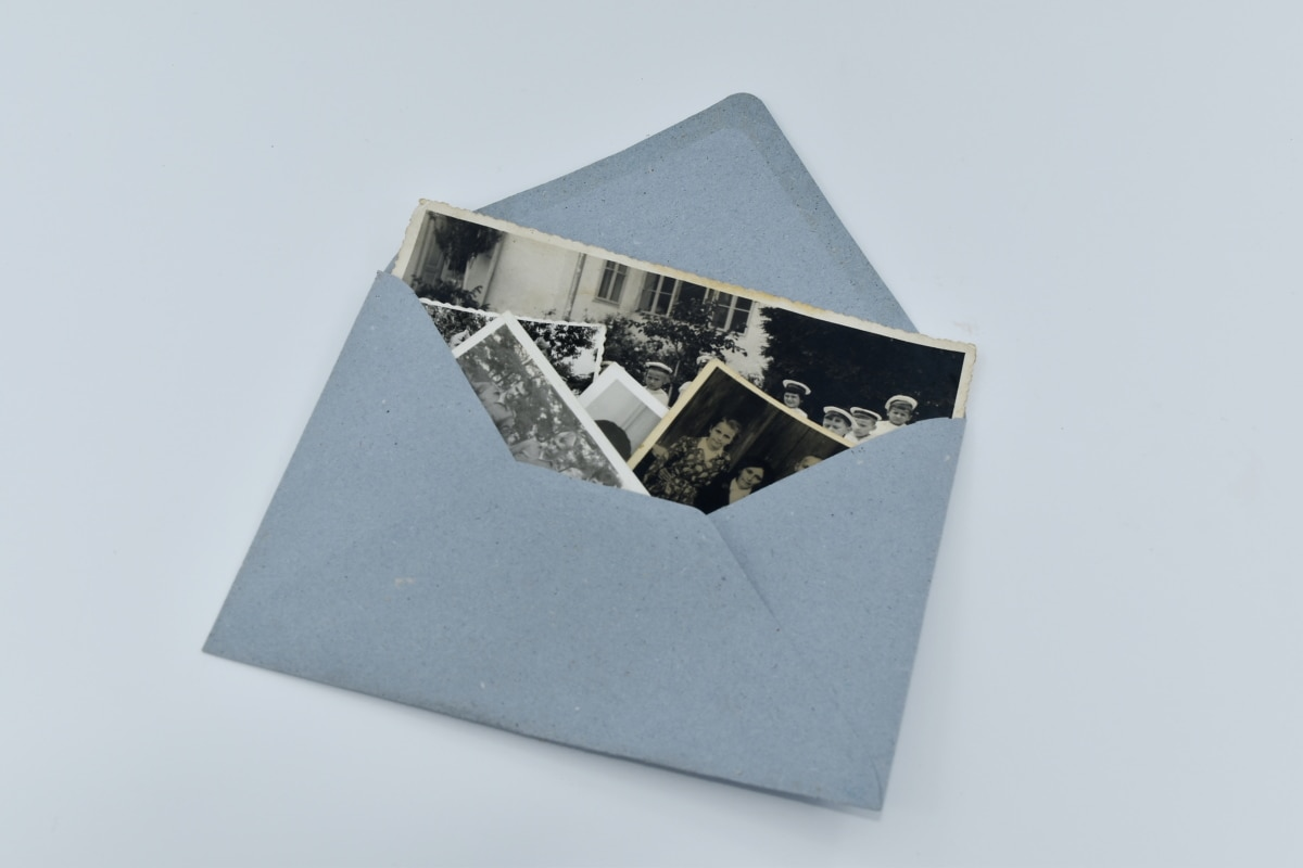 imagine, vechi, fotografie, plic, hârtie, în aer liber, natura statica, post, arta, reciclare