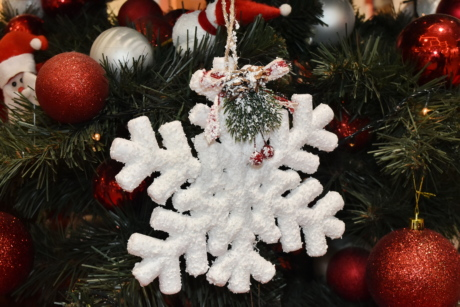 christmas tree, hanging, holiday, interior decoration, snowflake, toys, celebration, decoration, shining, christmas