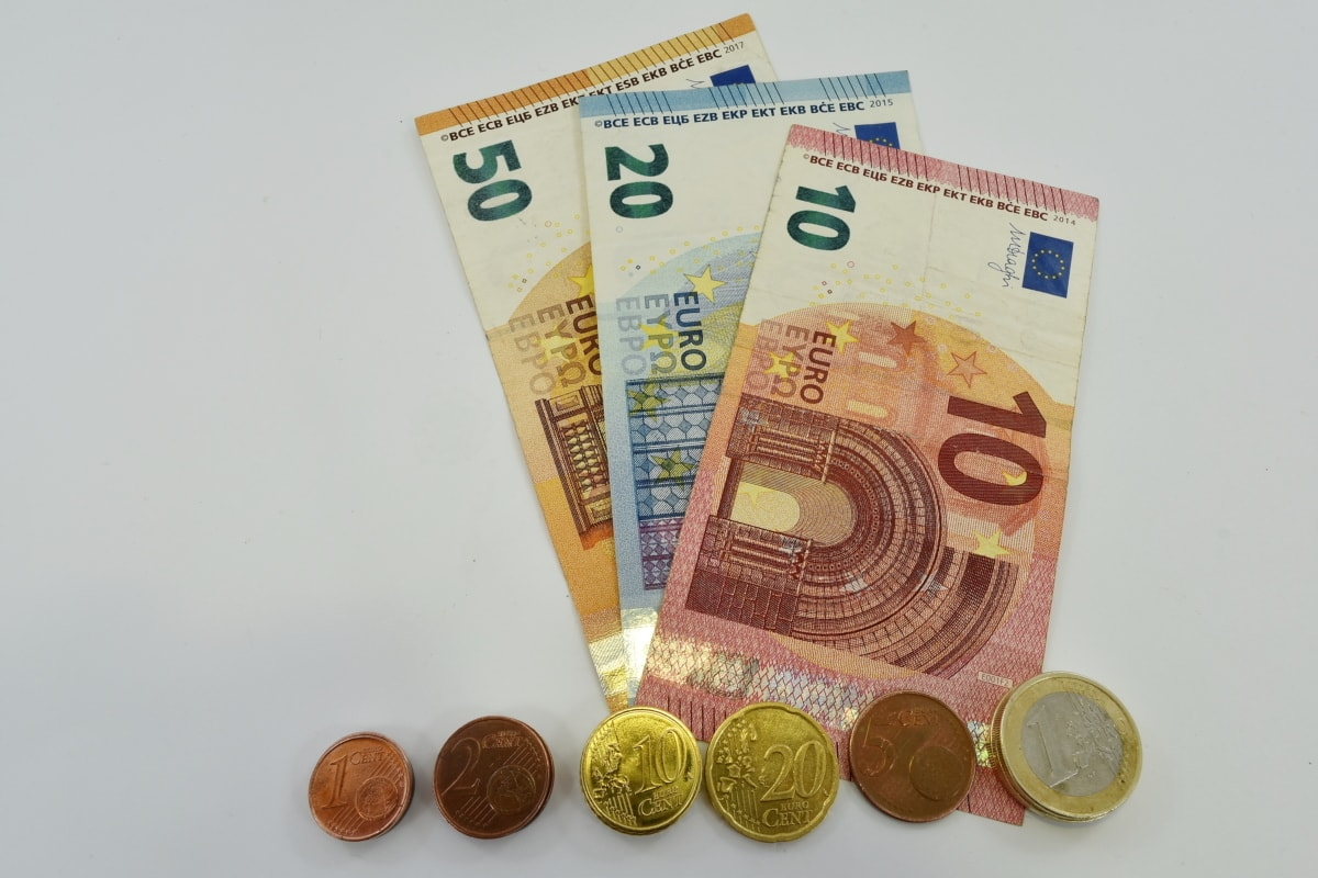 cent, coins, euro, europe, paper money, currency, cash, finance, business, bank