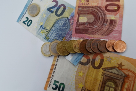 banknote, coins, euro, europe, finance, investment, paper money, banking, business, savings