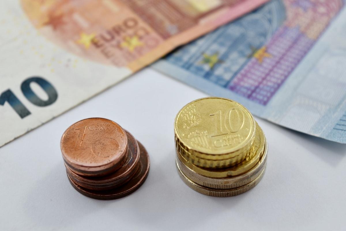 cent, coins, stacks, achievement, money, finance, savings, euro, business, bank