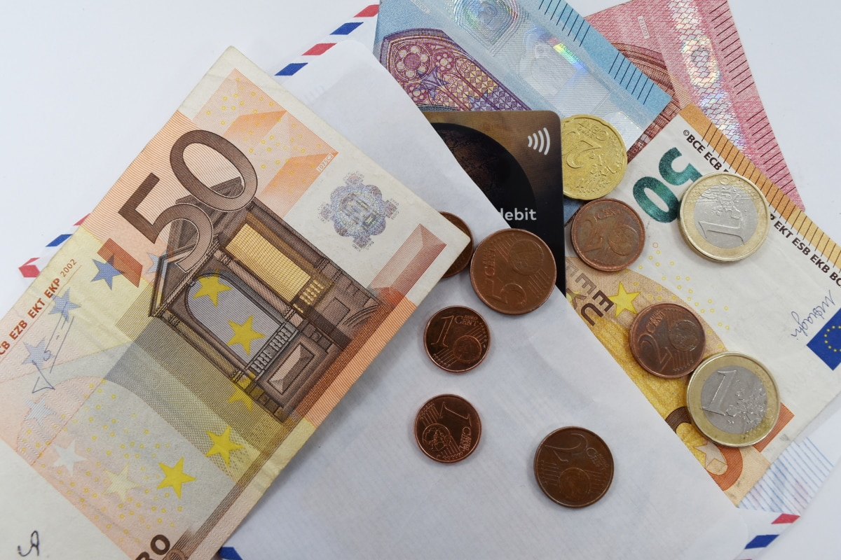coins, credit, euro, investment, letter, loan, paper money, money, currency, finance