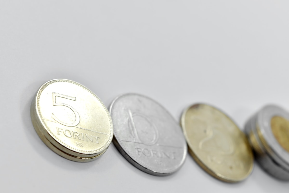 coins, forint, money, business, currency, coin, savings, finance, bank, cash