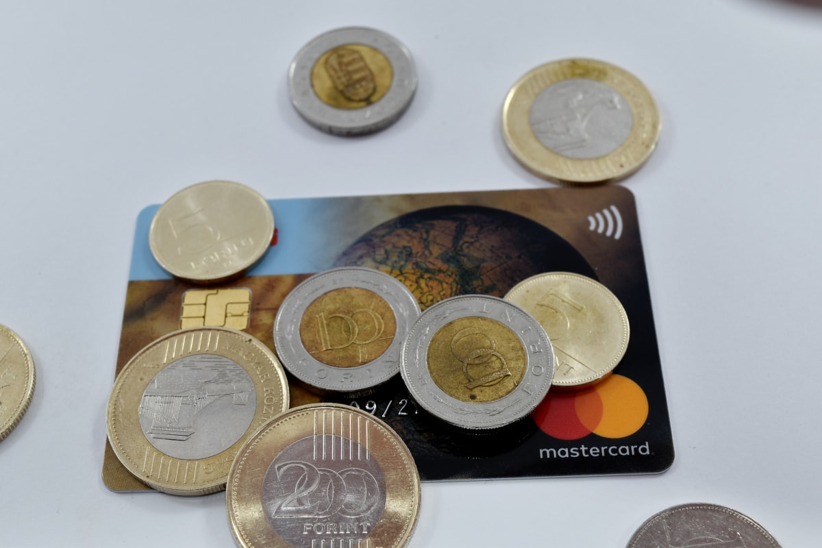 card, credit, forint, interest, investment, loan, currency, coins, cash, bank