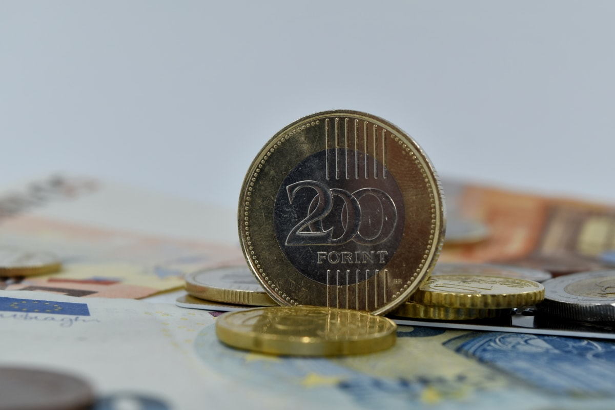 European, forint, golden glow, money, shining, business, savings, bank, currency, finance