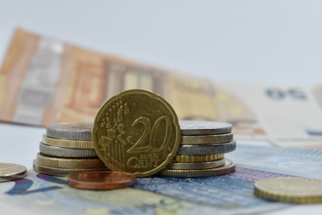 cent, coins, euro, europe, paper money, twenty, money, banking, change, currency
