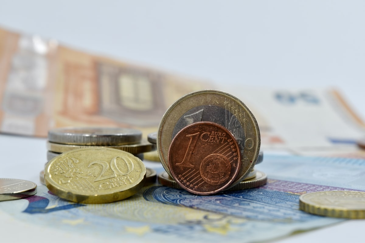 cent, coins, euro, europe, stacks, business, finance, savings, fastener, currency