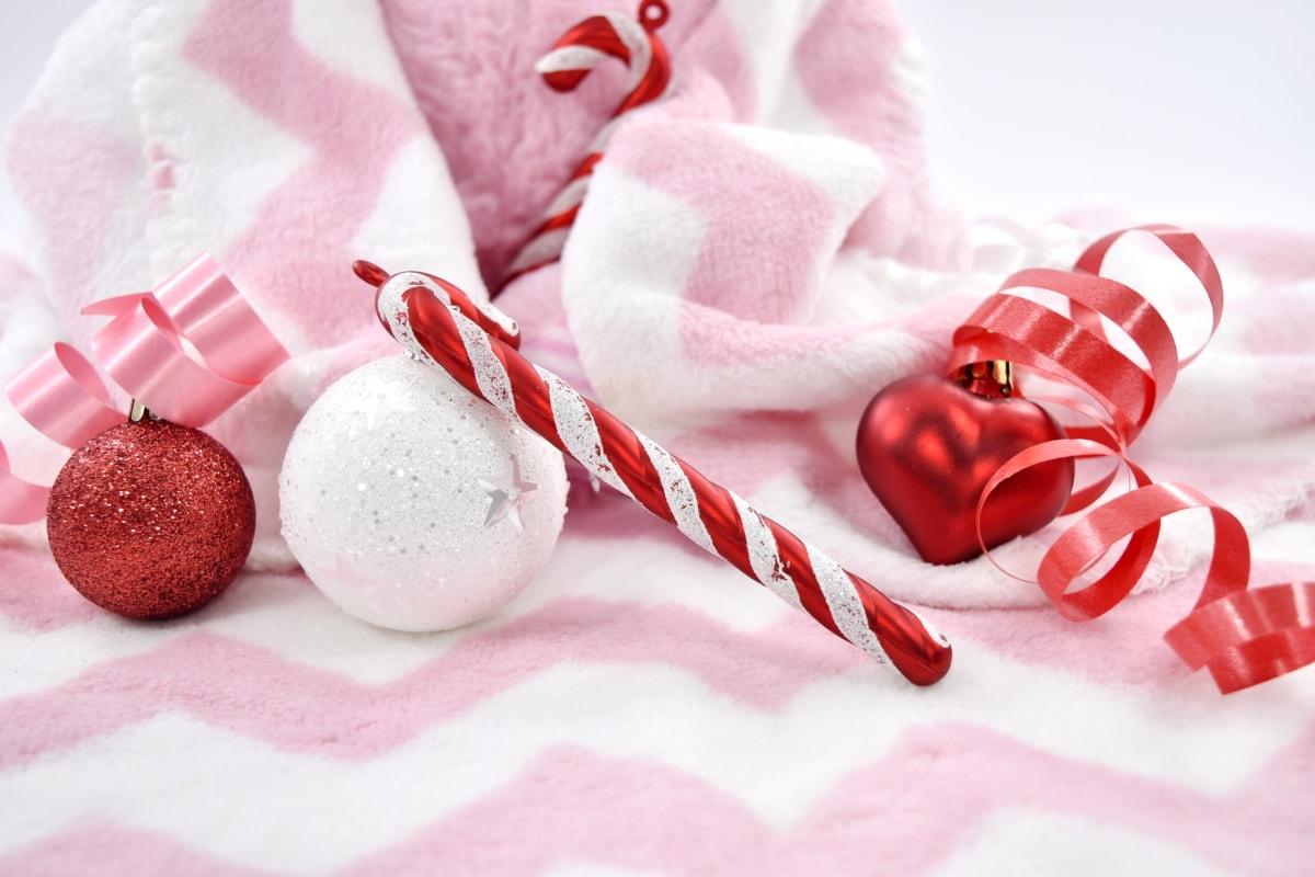 Herz, Feiertag, Liebe, Neujahr, Ornament, romantische, Weihnachten, Rosa, traditionelle, Feier
