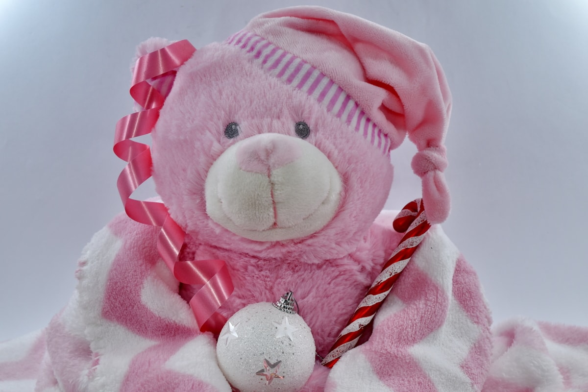 celebration, new year, ornament, teddy bear toy, toy, cute, frost, traditional, fun, scarf
