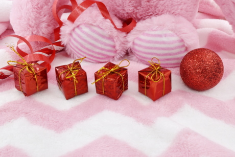 decoration, gifts, new year, packages, pinkish, christmas, thread, celebration, traditional, bright