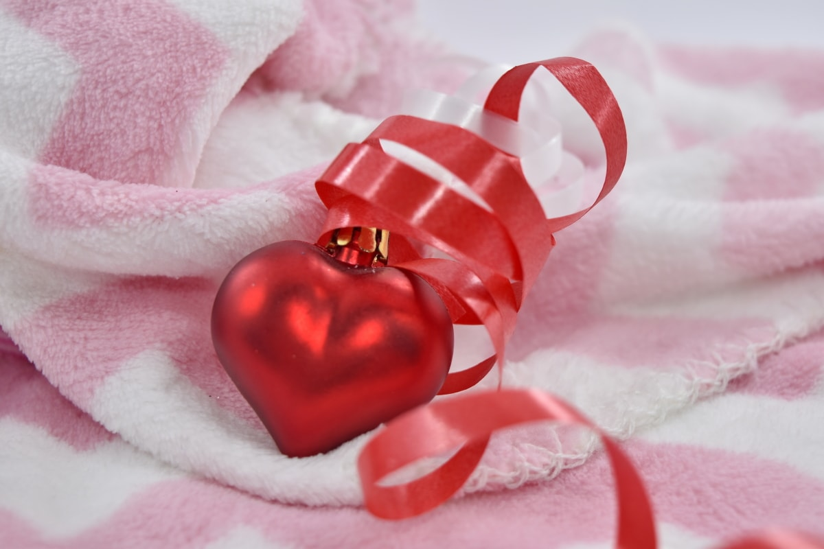 blanket, elegance, heart, romance, romantic, towel, Valentine's day, love, luxury, wedding