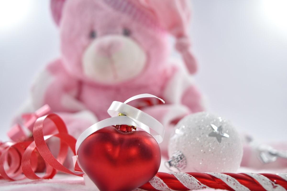 anniversary, gift, heart, love, surprise, teddy bear toy, Valentine's day, shining, wedding, romance