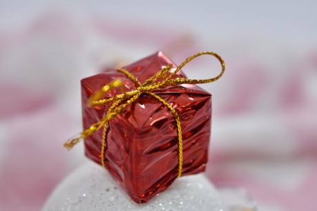 birthday, box, gift, miniature, shining, decoration, traditional, ribbon, holiday, celebration
