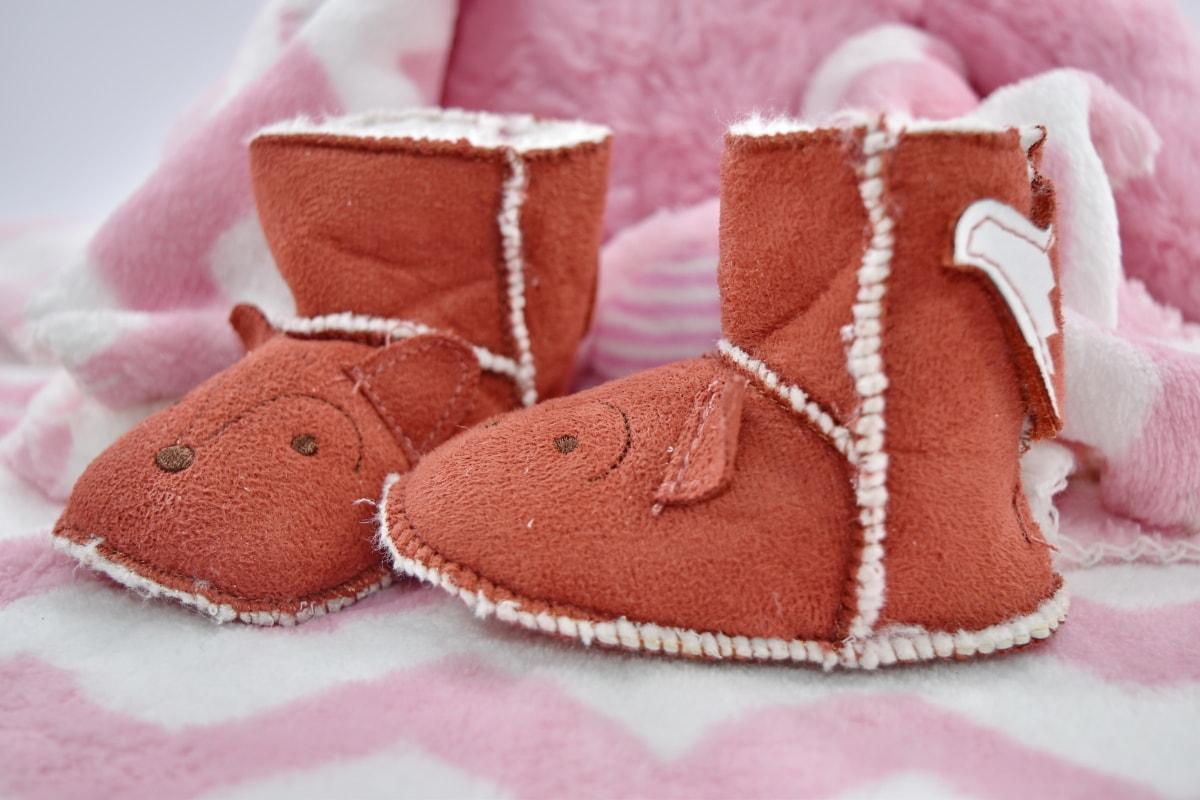 bebé, botas, calzado, cuero, zapato, hecho en casa, invierno, adentro, moda, hecho a mano