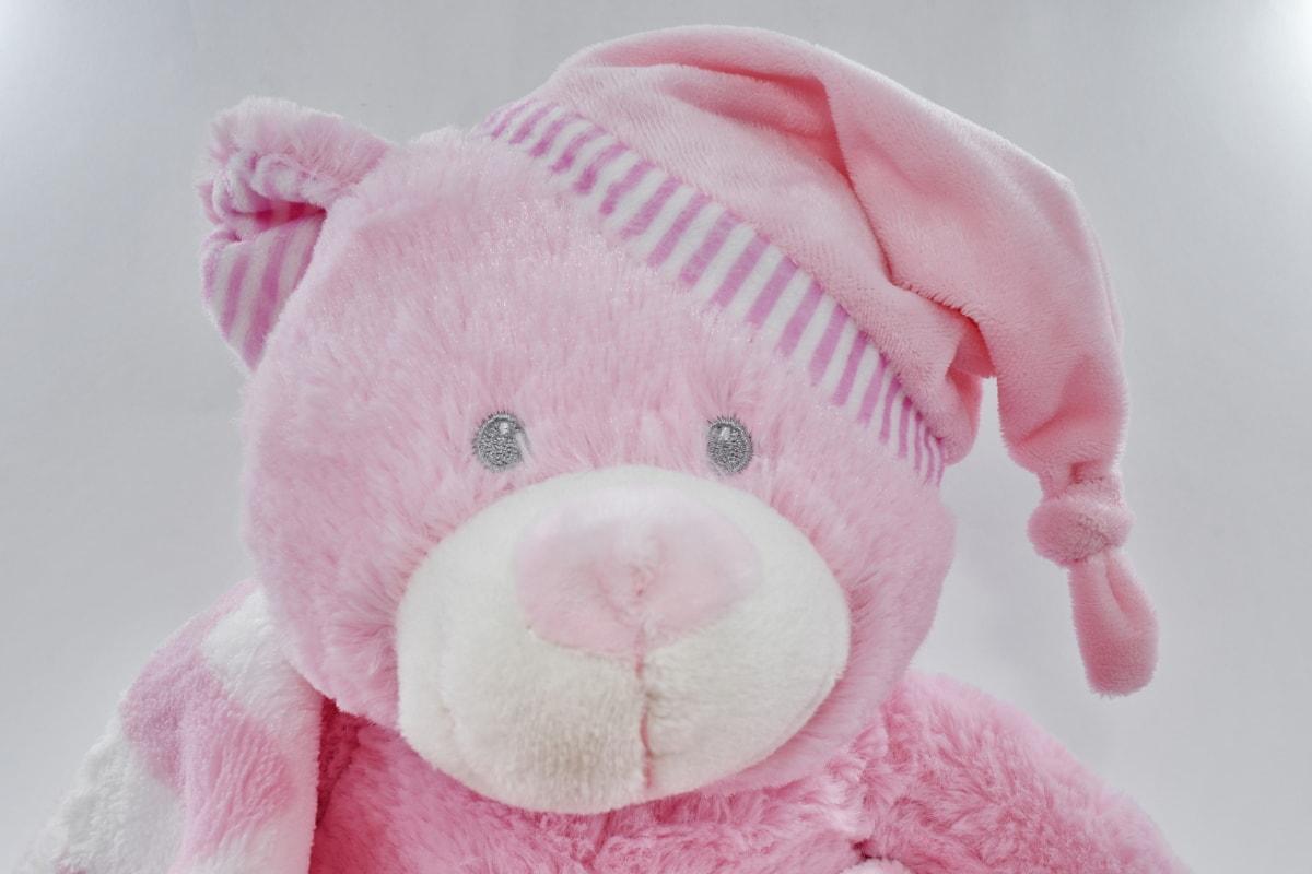gift, handmade, pink, plush, teddy bear toy, cute, toy, love, fun, fur