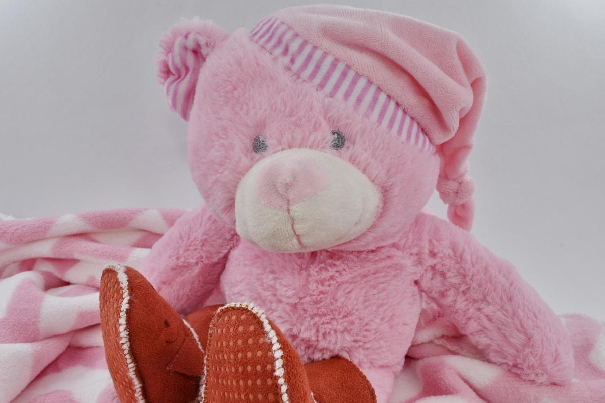 ブーツ, 面白い, 手作り, 帽子, ぬいぐるみ, テディベアおもちゃ, グッズ, ピンク, 冬, 子