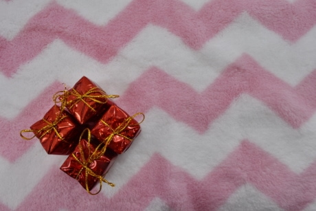 box, gifts, miniature, pinkish, towel, decoration, retro, romance, design, color