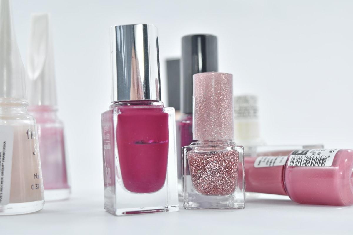 bottles, cosmetics, elegance, liquid, manicure, shining, cosmetic, make, bottle, makeup