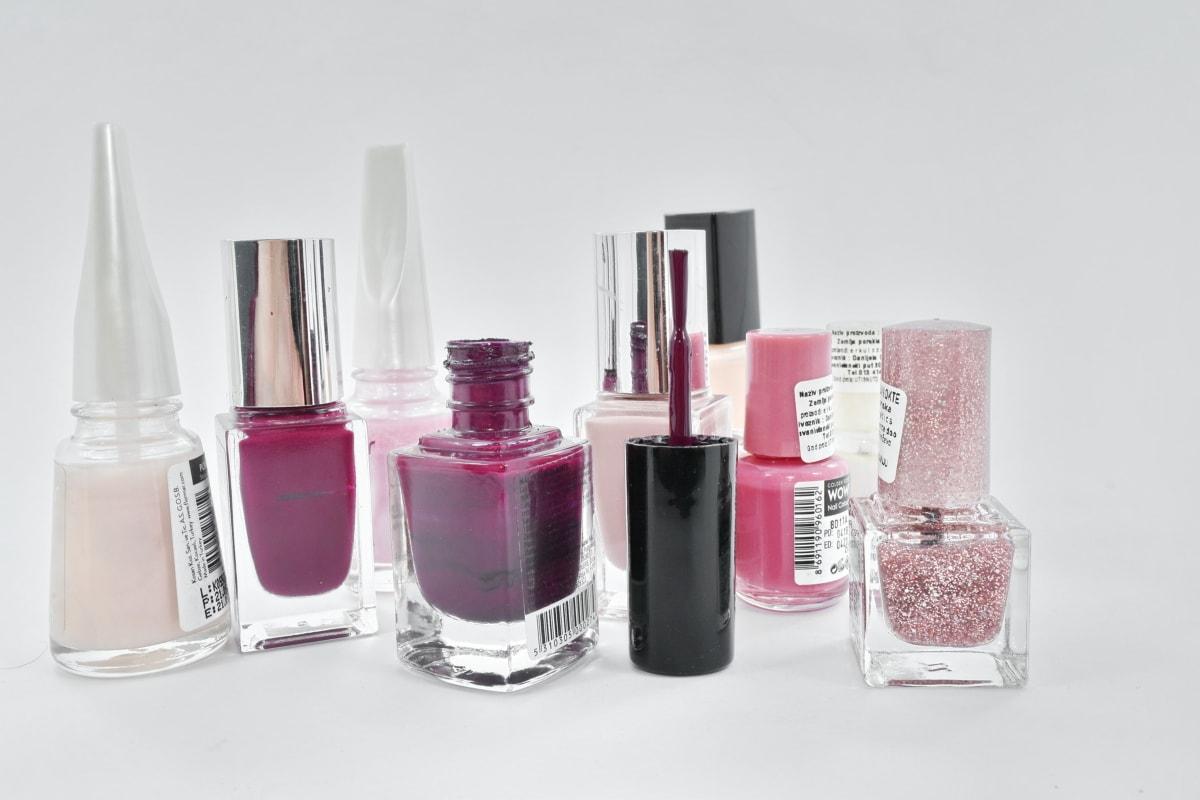 lisävaruste, pullot, kosmetiikka, eleganssi, manikyyri, pensseli, WC, pullo, Hajusteiden, muoti