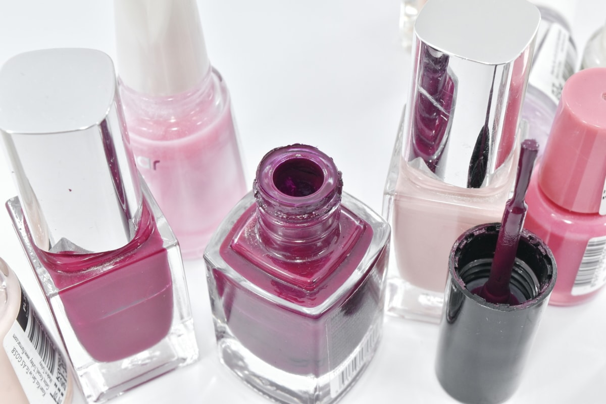 accessory, bottles, brush, care, cosmetics, glamour, manicure, merchandise, paint, toiletry