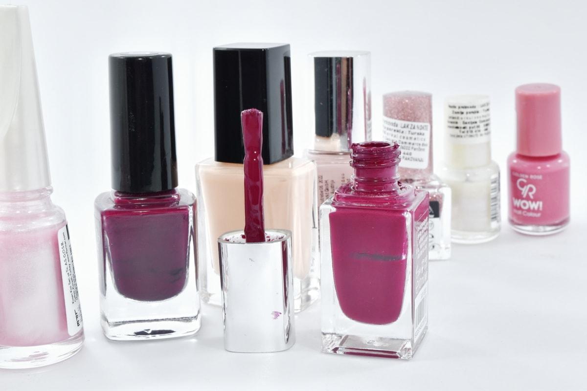 accessory, bottles, care, colors, cosmetic, glamour, hygiene, liquid, merchant, treatment