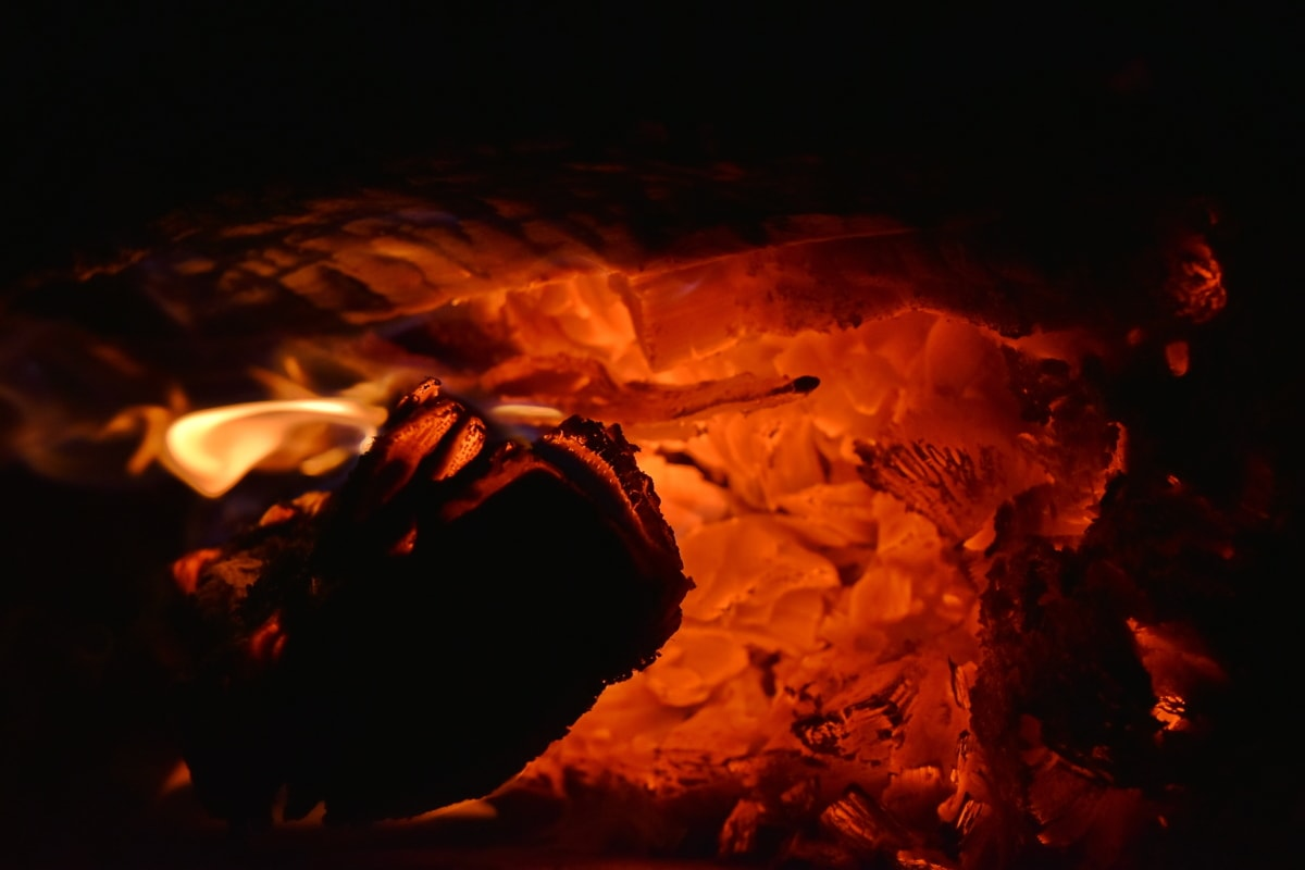 flame, hot, bonfire, campfire, smoke, dark, motion, energy, burn, heat
