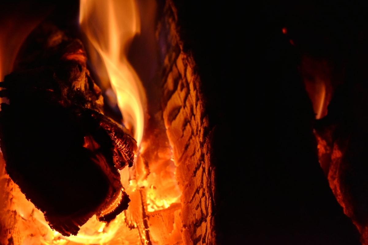 campfire, hot, coal, flame, firewood, heat, fireplace, bonfire, ash, burn