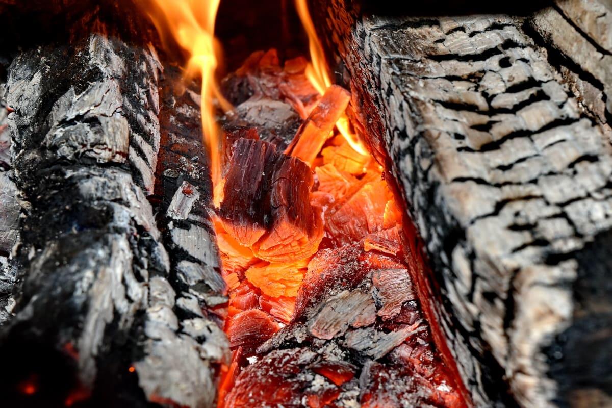 bright, burn, fire, heat, smoke, ash, firewood, charcoal, coal, hot