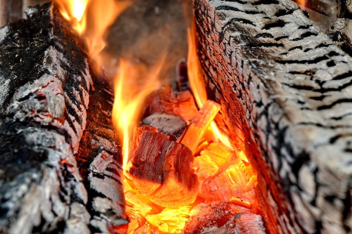 flames, hot, heat, ash, firewood, coal, flame, burn, charcoal, smoke