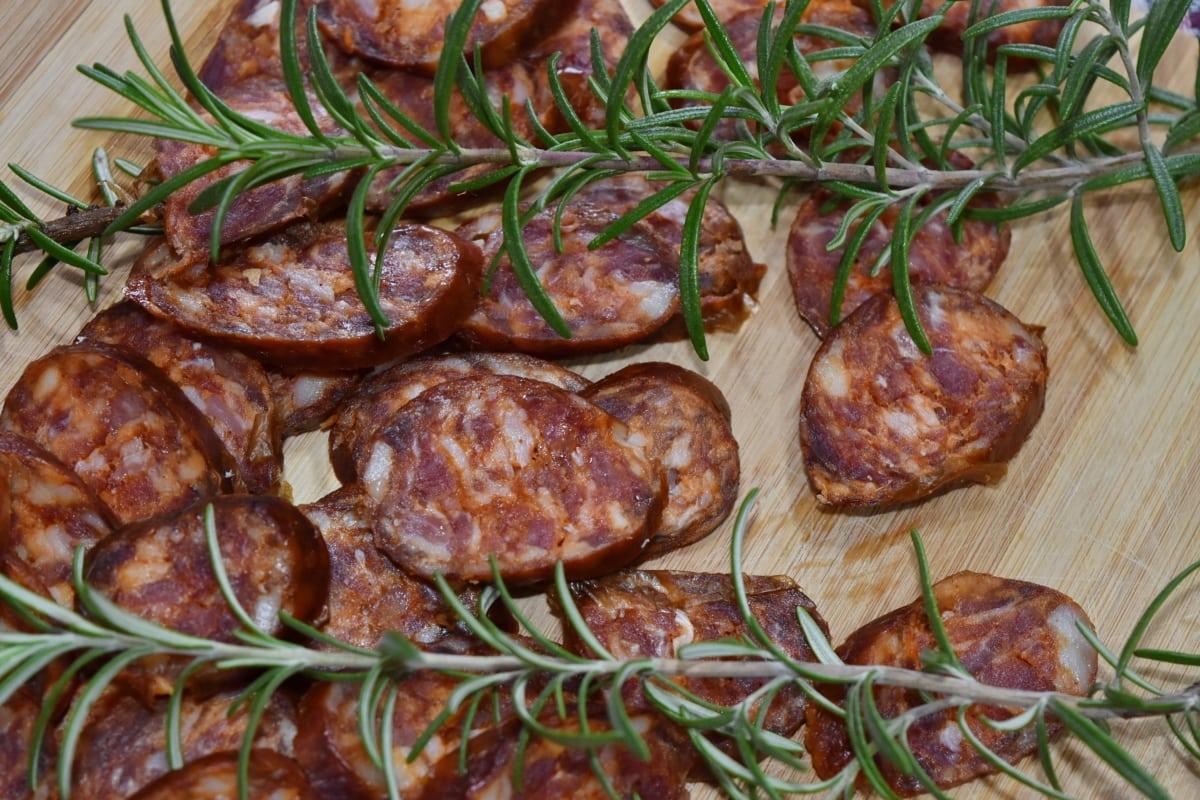 taux de cholestérol, culinaires, matières grasses, table de cuisine, viande, protéine, saucisse, alimentaire, repas, dîner