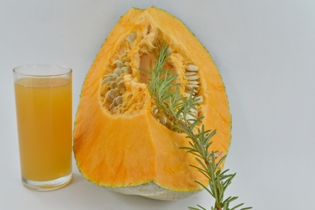 beverage, drink, juice, pumpkin, pumpkin seed, rosemary, slice, fruit, healthy, fresh