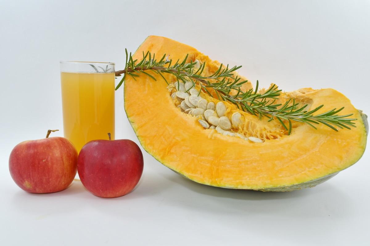 maçã, coquetel de frutas, suco de fruta, abóbora, semente de abóbora, vegetal, vitamina, suco de, frutas, saudável