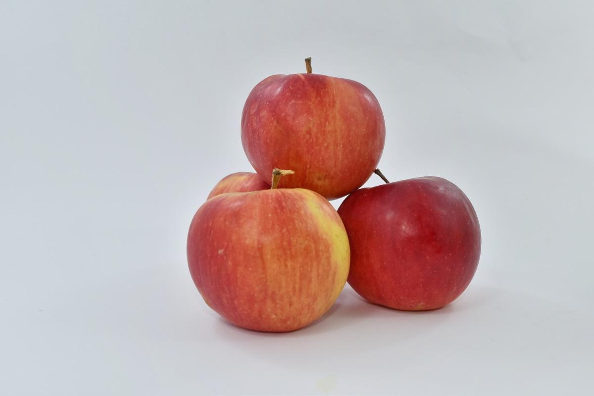 apples, detail, diet, dietary, fruit, red, snack, vegan, food, delicious
