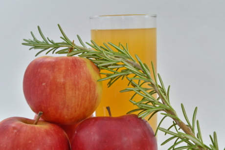 apples, fruit cocktail, fruit juice, rosemary, syrup, twig, health, vitamin, healthy, fruit