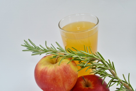 apples, fruit cocktail, fruit juice, healthy, rosemary, vegetarian, fruit, vitamin, food, diet