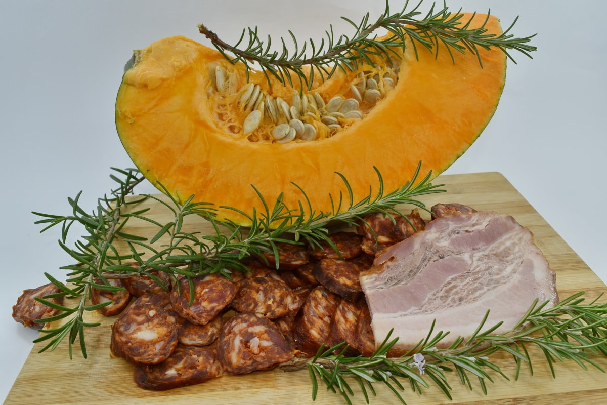 en bonne santé, table de cuisine, muscle, protéine, citrouille, graine de citrouille, pimenter, brindille, alimentaire, ingrédients
