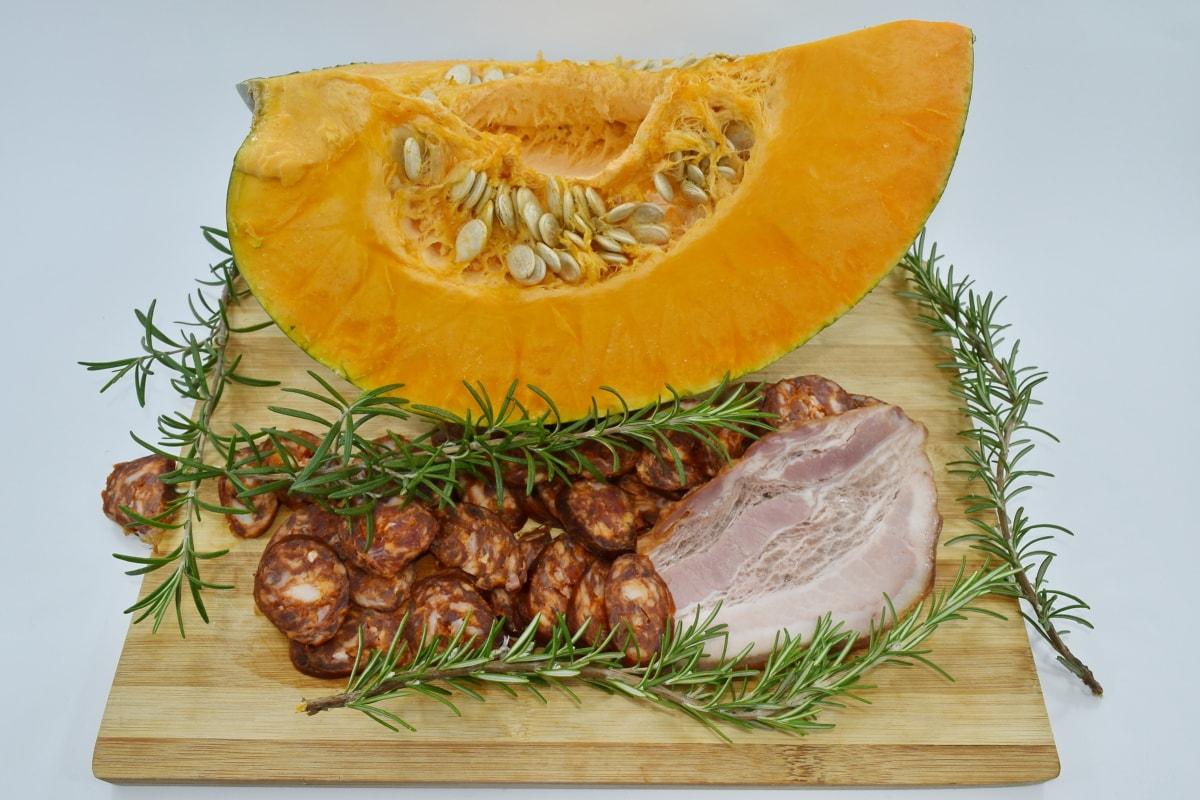 lamb, meat, pumpkin, pumpkin seed, food, dinner, cooking, slice, lunch, nutrition