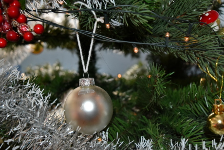 christmas, christmas tree, light, ornament, wires, tree, winter, sphere, decoration, hanging