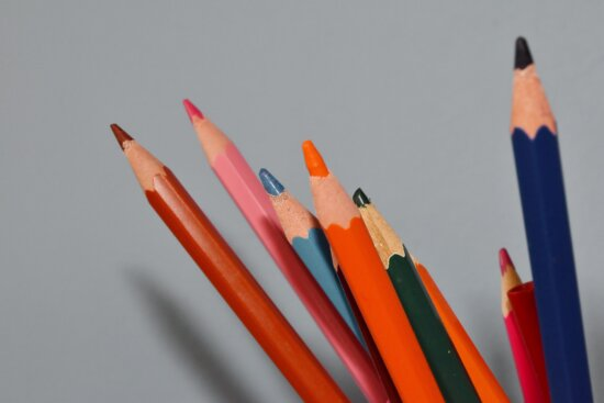 colorful, pencil, crayon, drawing, draw, wood, education, college, school, composition