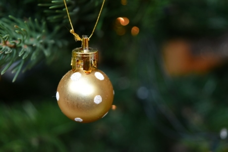 christmas tree, golden glow, golden shiner, hanging, shipping, christmas, shining, tree, decoration, celebration