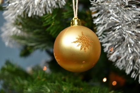 christmas tree, golden glow, golden shiner, new year, ornament, shining, celebration, hanging, gold, tree