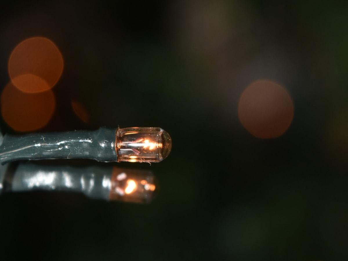 focus, horizontal, illumination, light, light bulb, miniature, wire, color, nature, blur