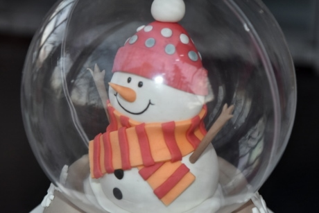 christmas, snowman, toy, transparent, glass, winter, plastic, fun, cute, face