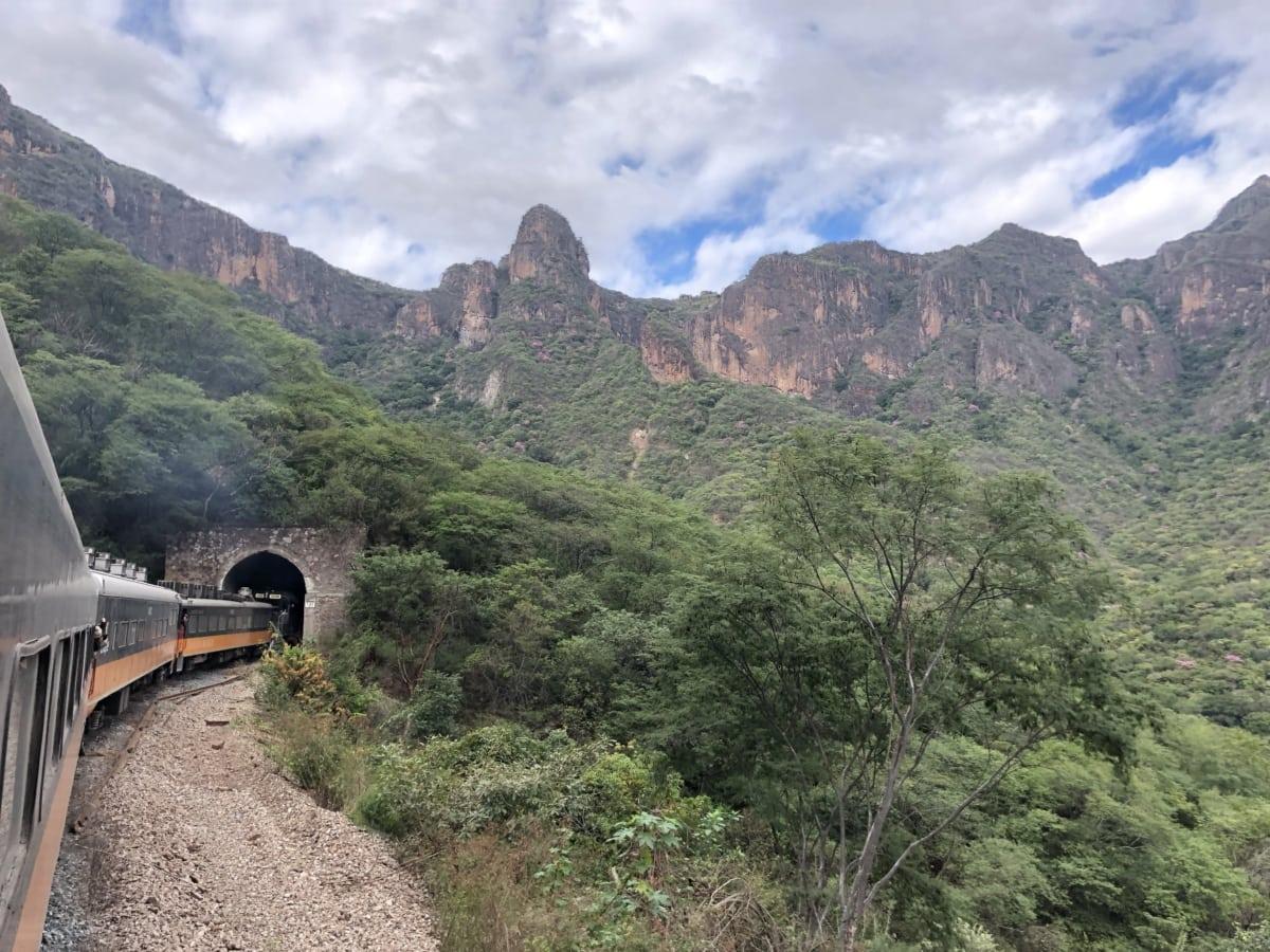 locomotive, locomotive à vapeur, train, tunnel, montagnes, paysage, montagne, nature, vallée de, arbre