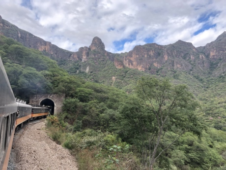 locomotive, steam locomotive, train, tunnel, mountains, landscape, mountain, nature, valley, tree