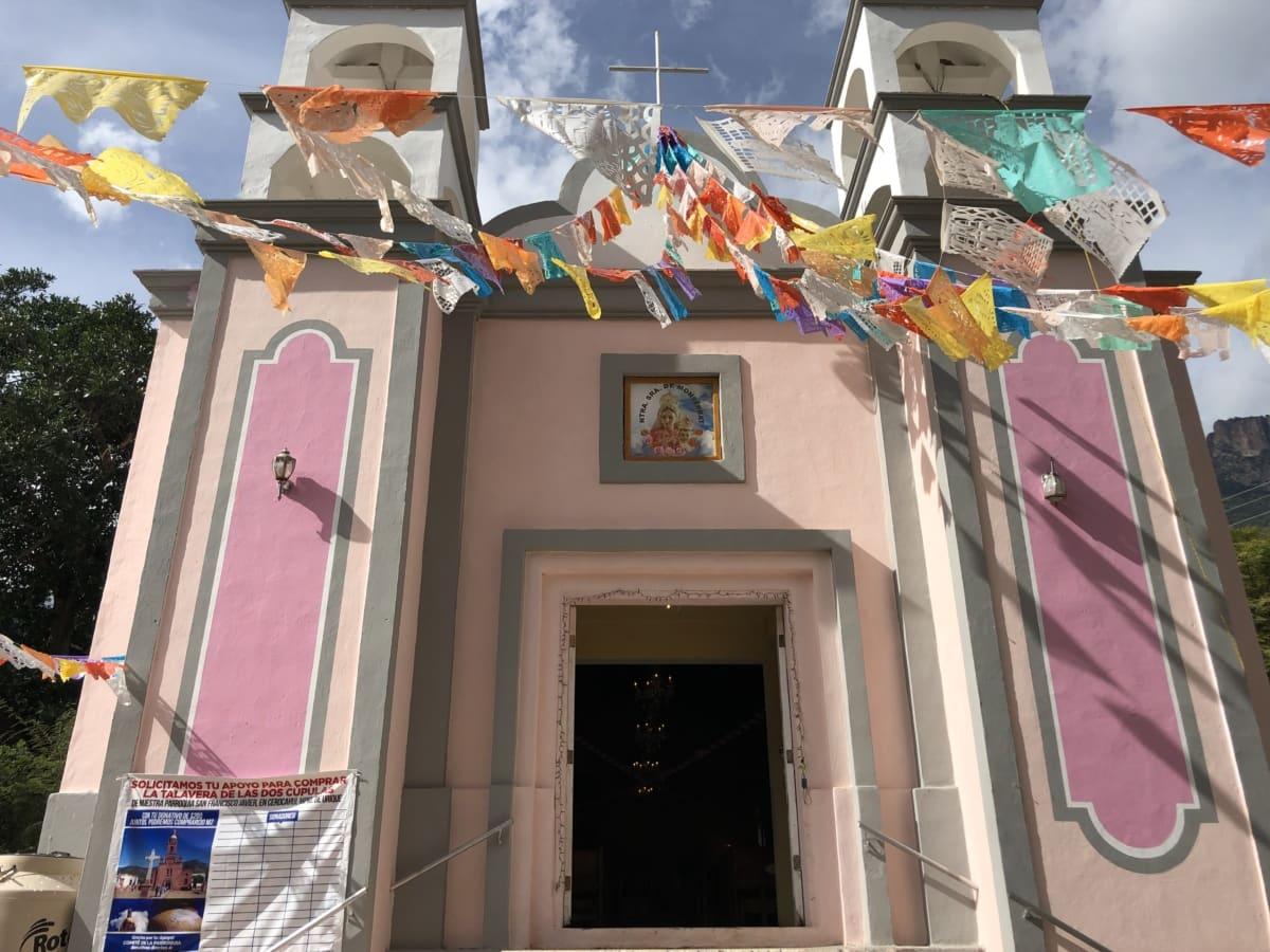 chapel, colorful, decoration, entrance, event, front door, architecture, window, building, outdoors