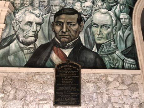 mural, museum, painting, president, people, memorial, structure, man, art, leader