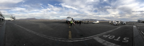 boarding, runway, airplane, airport, road, transportation, vehicle, trailer, truck, aircraft