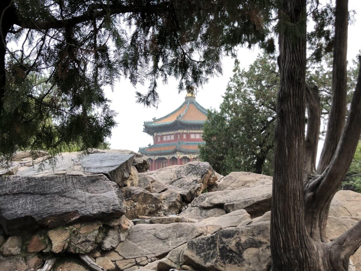 Asia, dvorac, Kina, krajolik, turistička atrakcija, drvo, arhitektura, drvo, hram, religija